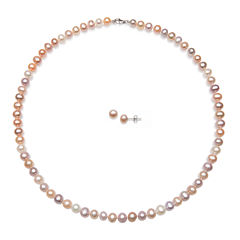 Multicolor Cultured Freshwater Pearl 2-pc. Set