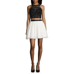 B. Smart Sleeveless Applique Dress Set-Juniors