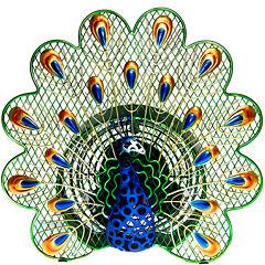Deco Breeze Peacock Figurine Fan
