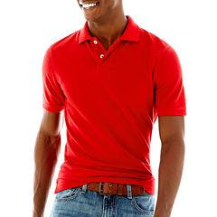 Arizona solid polo shirts shirts for men jcpenney for Jcpenney ladies polo shirts