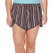 Arizona Pom Pom Shorts - Juniors Plus