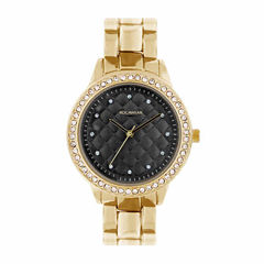 Rocawear Womens Gold Tone Bracelet Watch-Rl11668g1-758