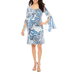 Ronni Nicole Long Sleeve Shift Dress