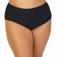 St. John's Bay Solid Brief Swimsuit Bottom - Plus