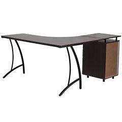 L-Shape 3 Drawer Desk