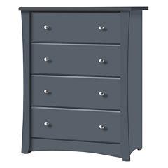 Storkcraft Crescent 4-Drawer Dresser - Gray