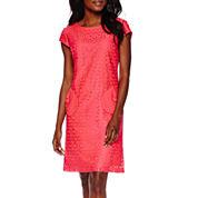 R&K Originals® Cap-Sleeve Lace Shift Dress