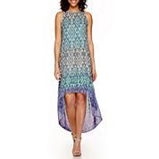a.n.a® Sleeveless Print Tiered Maxi Dress
