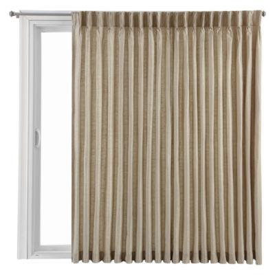 Royal Velvet® Supreme Pinch Pleat/Back Tab Lined Patio Door Panel
