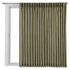 Royal Velvet® Supreme Pinch-Pleat/Back-Tab Lined Patio Door Panel