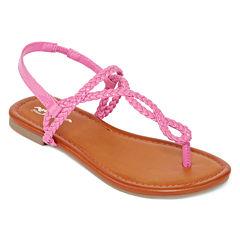 Arizona Iris Girls Braided Sandals - Little Kids
