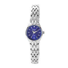 Armitron® Now® Womens Silver-Tone Diamond-Accent Watch