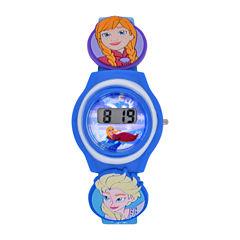 Disney Frozen Girls Blue Strap Watch-Fzn3900jc