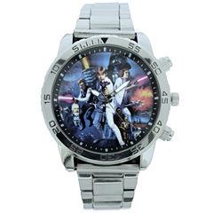 Star Wars Mens Silver Tone Bracelet Watch-Stw2314jc