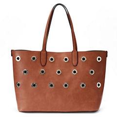 Mondani Loren Grommets Large Double Shoulder Bag