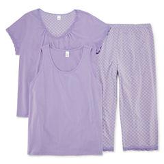 Adonna 3 piece Capri Pajama Set-Plus