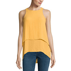 a.n.a Sleeveless Y Neck Woven Blouse