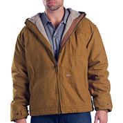 Dickies® Sanded Duck Sherpa-Lined Hooded Work Jacket