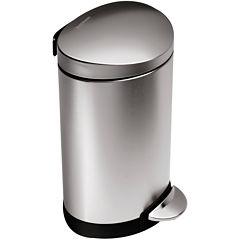 simplehuman® 6L Mini Semi-Round Step Trash Can