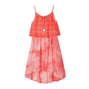 by&by Girls Lace Popover Tie-Dye Skater Dress - Girls 7-16