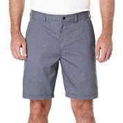 PGA TOUR® Hybrid Mini-Grid Flat-Front Shorts