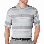 PGA TOUR® Short-Sleeve Stripe Jacquard Polo