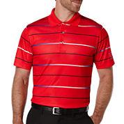 PGA TOUR® Short-Sleeve Gradient Stripe Golf Performance Polo
