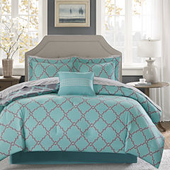 Madison Park Essentials Concord Reversible Complete Bedding Set with Sheets