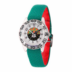Disney Mickey Mouse Boys Green Strap Watch-Wds000109