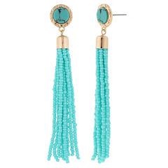 Decree Green Drop Earrings