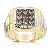 Mens 1 1/2 CT. T.W. Champagne Diamond 10K Gold Band