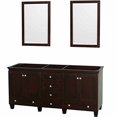 Wyndham Collection Acclaim 72 inch Double BathroomVanity