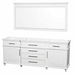 Wyndham Collection Berkeley 80 inch Double Bathroom Vanity with 70 inch Mirror