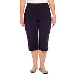 Alfred Dunner Seas The Day Cropped Pants-Plus