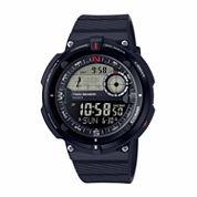 Casio Twin Sensor Mens Black Strap Watch-Sgw-600h-1b