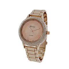 Geneva Platinum Womens Rose Goldtone Bracelet Watch-4979