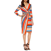 Weslee Rose 3/4 Sleeve Wrap Dress