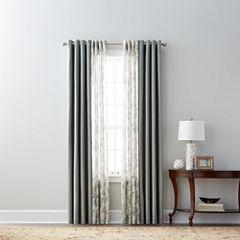 JCPenney Home Pembroke & Bismark Sheer Grommet-Top Curtain Panels