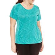 Spalding Short Sleeve Scoop Neck T-Shirt-Plus