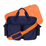 Trend Lab® Deluxe Duffle Diaper Bag-Blue and Orange