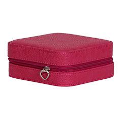 Mele & Co. Josette Magenta Faux-Leather Jewelry Travel Case