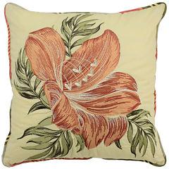 Waverly® Wailea Coast Square Floral Decorative Pillow