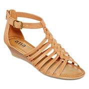 a.n.a® Grate Low-Wedge Strap Sandals