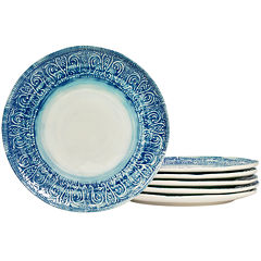 Tabletops Gallery® Castleware Set of 6 Melamine Dinner Plates