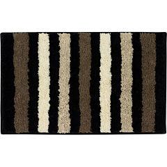 Bathtopia Dmitri Microfiber Stripe Bath Rug Collection
