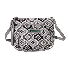 Waverly Black White Ikat Quilted Small Crossbody Bag