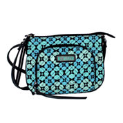 Waverly Blue Green Quilted Small Crossbody Bag