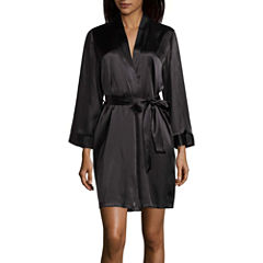 Ambrielle Long Sleeve Satin Robe