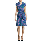 Liz Claiborne Short Sleeve Wrap Dress