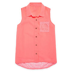 Total Girl Woven Lace Back Tank Top - Girls' 7-16 and Plus